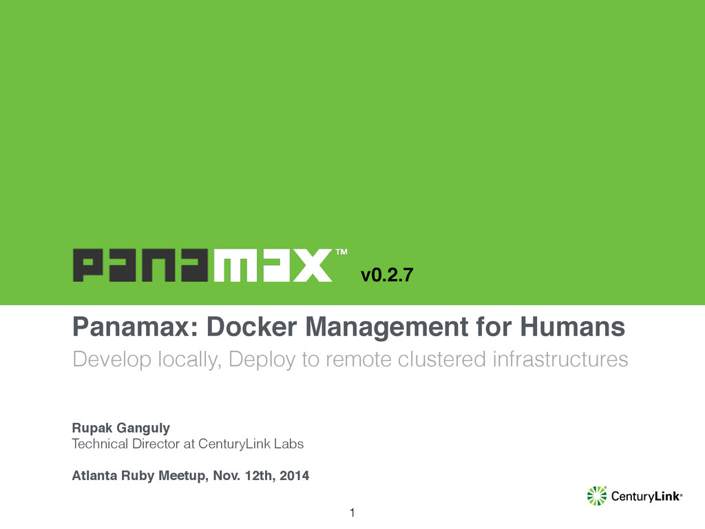 Panamax: Docker Management for Humans Develop l...