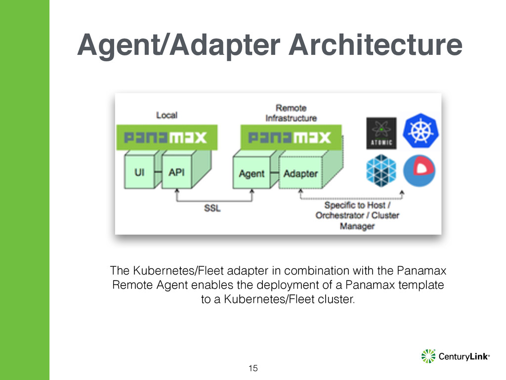 15 Agent/Adapter Architecture The Kubernetes/Fl...