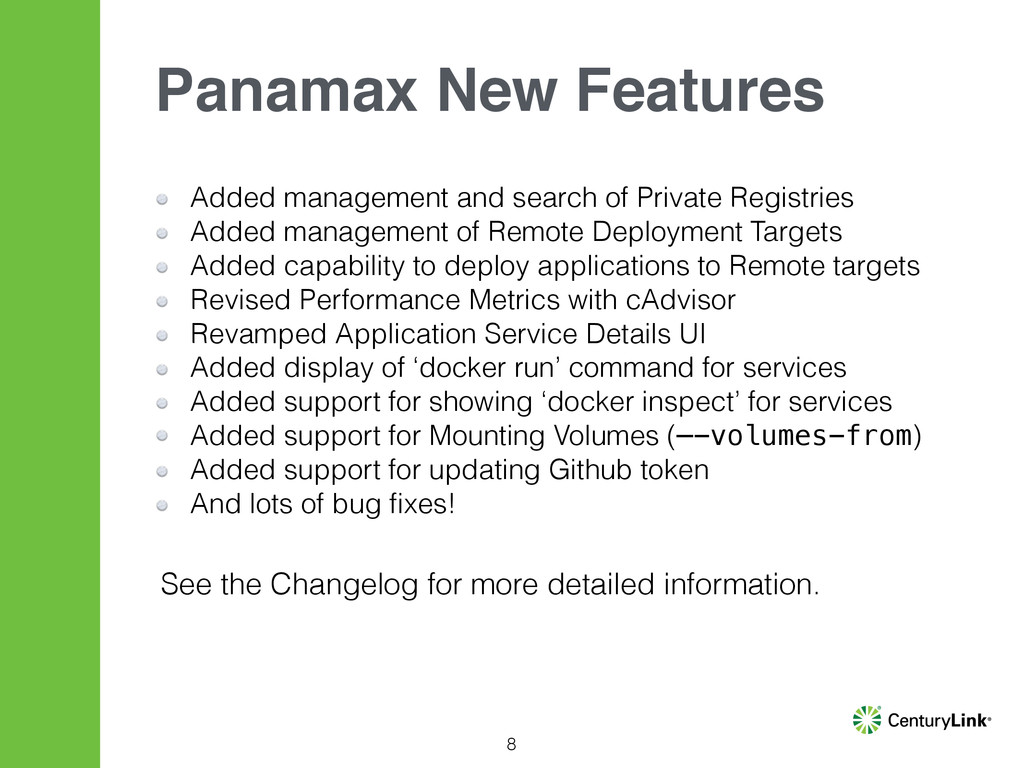 8 Panamax New Features Added management and sea...