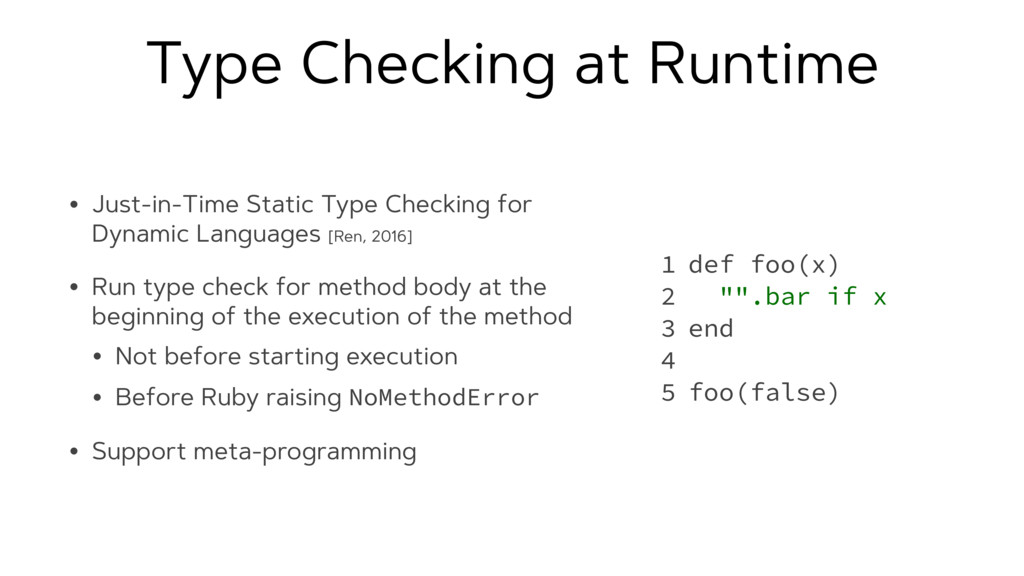 Type Checking at Runtime • Just-in-Time Static ...