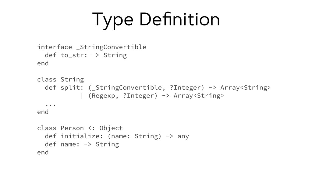 Type Definition interface _StringConvertible def...