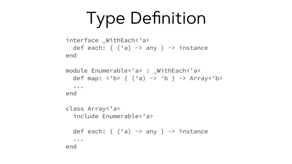 Type Definition interface _WithEach<'a> def each...