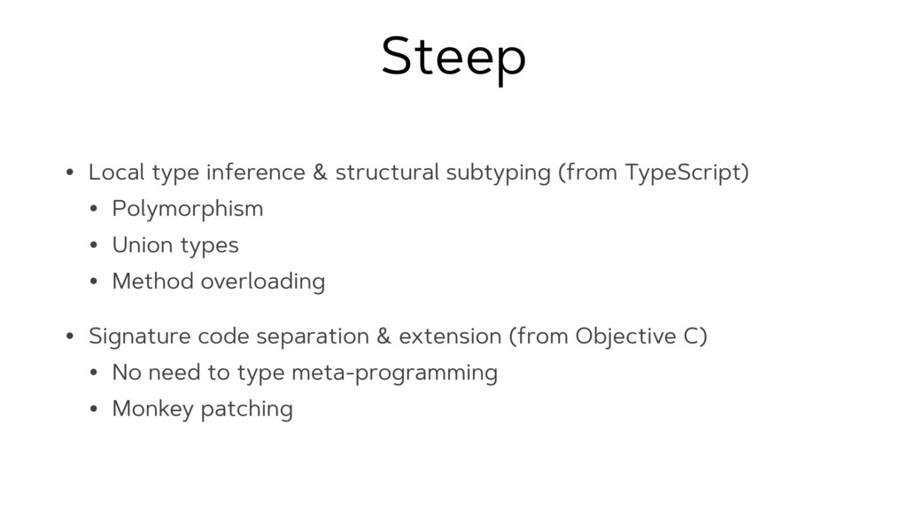 Steep • Local type inference & structural subty...