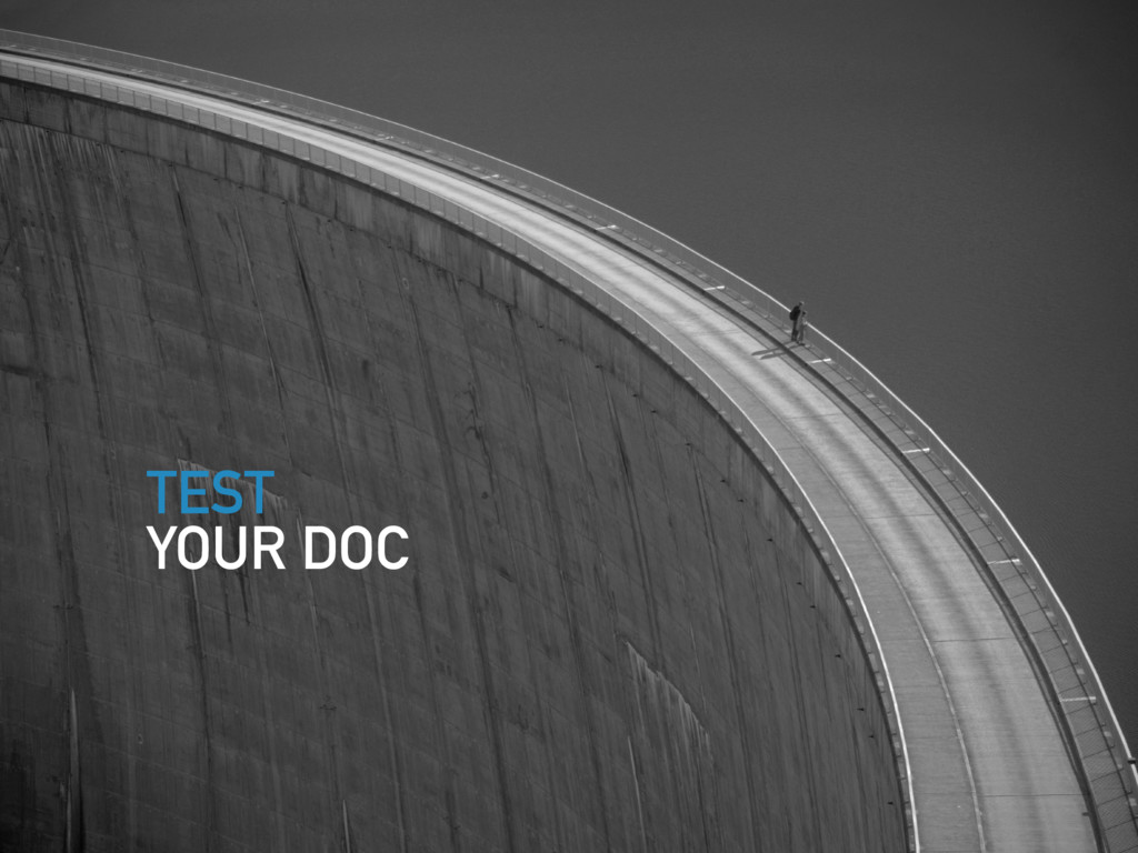 TEST YOUR DOC