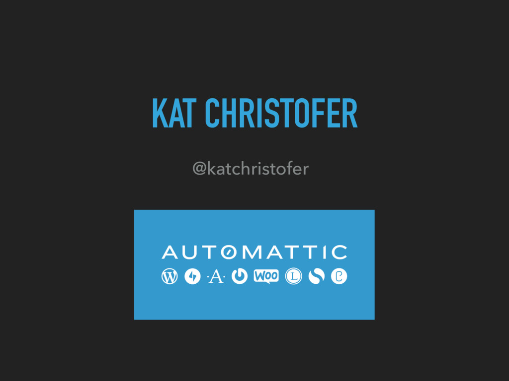 KAT CHRISTOFER @katchristofer