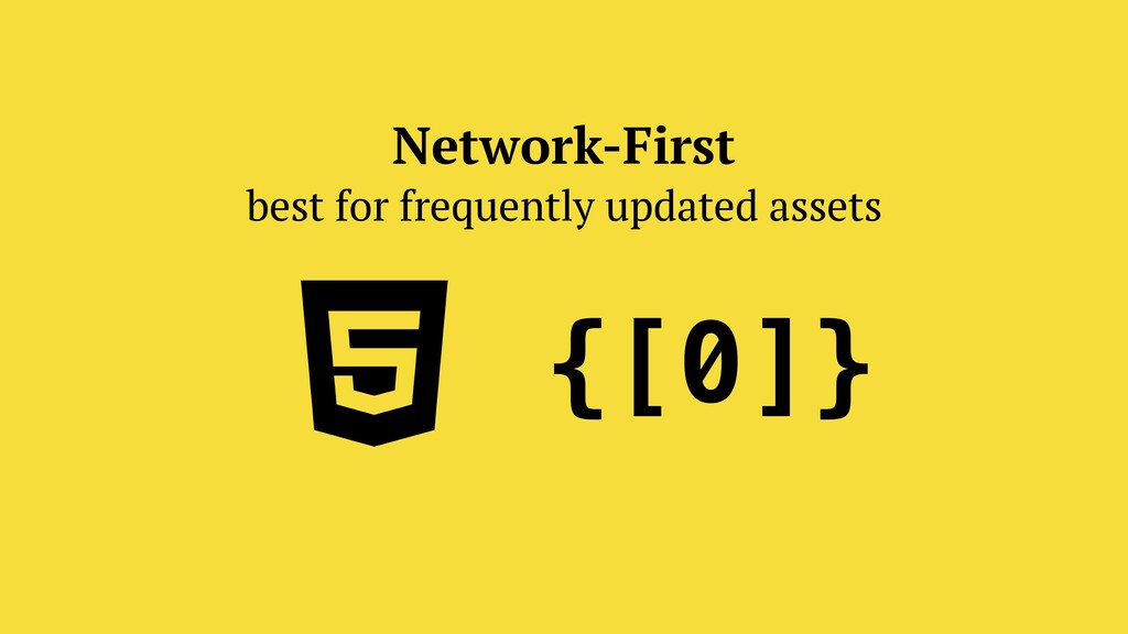 Network-First best for frequently updated asset...