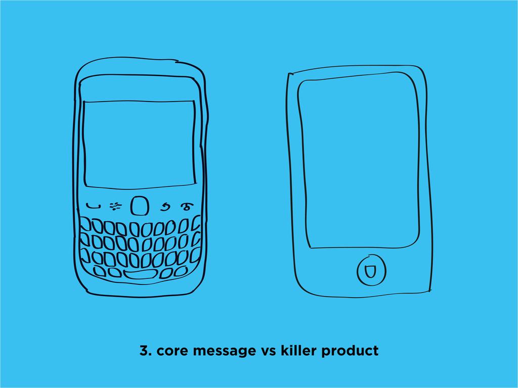 3. core message vs killer product