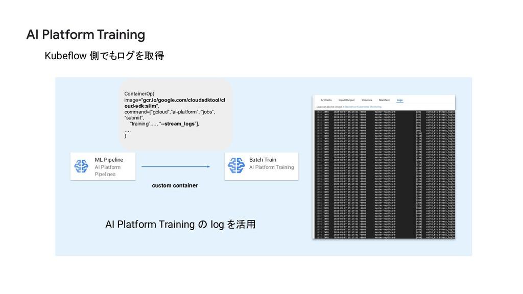 3 0 Kubeflow 側でもログを取得 ML Pipeline AI Platform Pi...