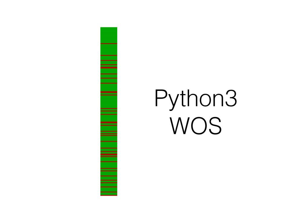 Python3 WOS