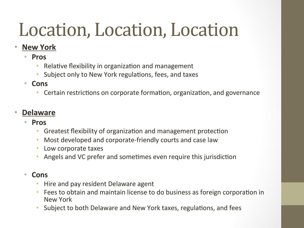 Location, Location, Location  • New...