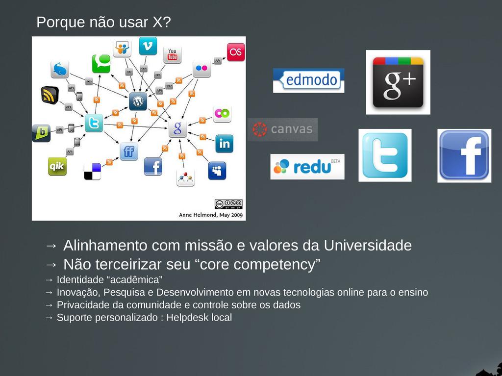 → Alinhamento com missão e valores da Universid...