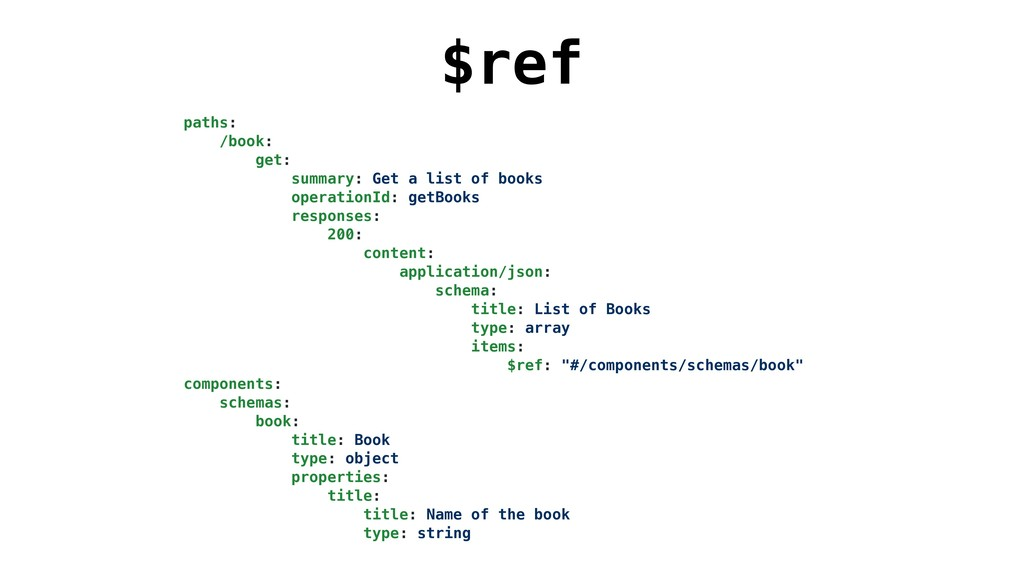$ref paths: /book: get: summary: Get a list of ...