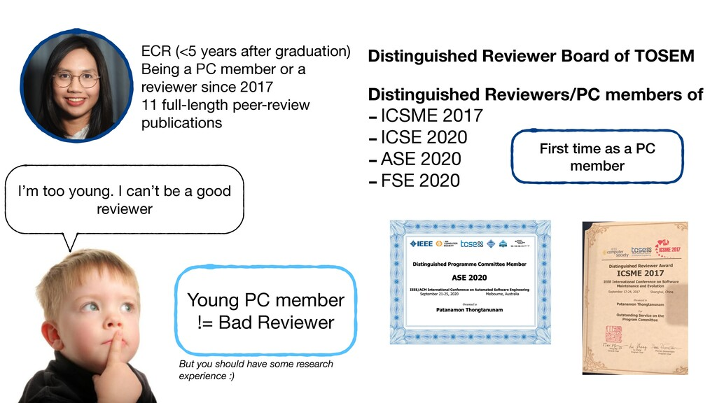 I'm too young. I can't be a good reviewer ECR (...