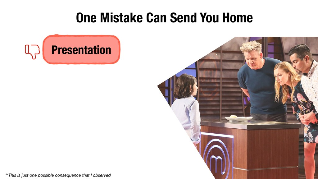 Presentation One Mistake Can Send You Home **Th...
