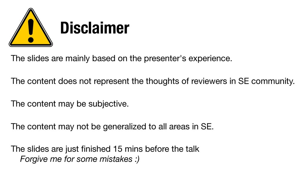Disclaimer The slides are mainly based on the p...