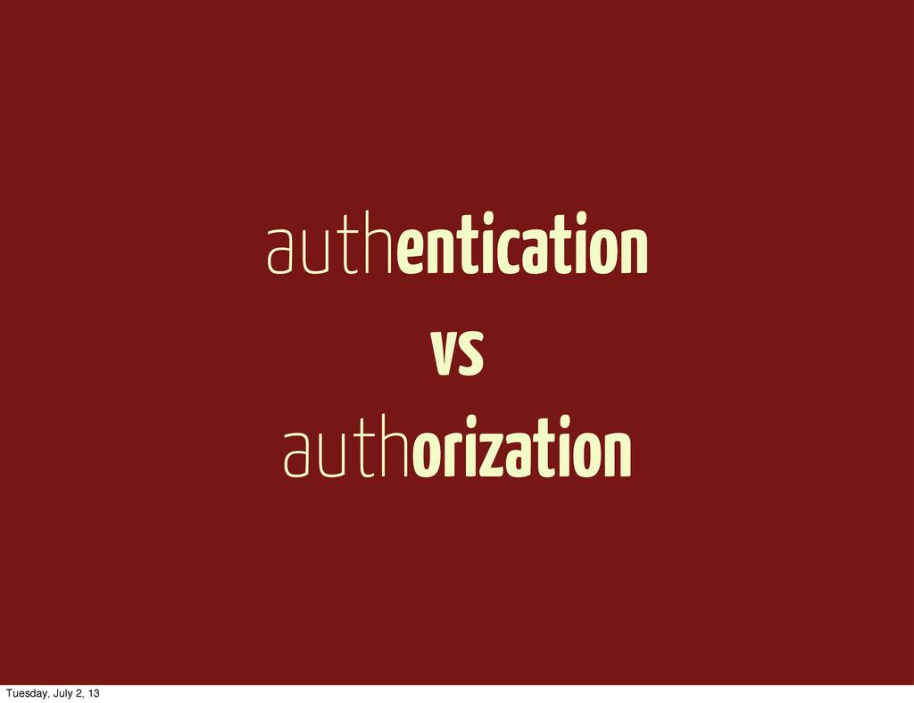 authentication vs authorization Tuesday, July 2...