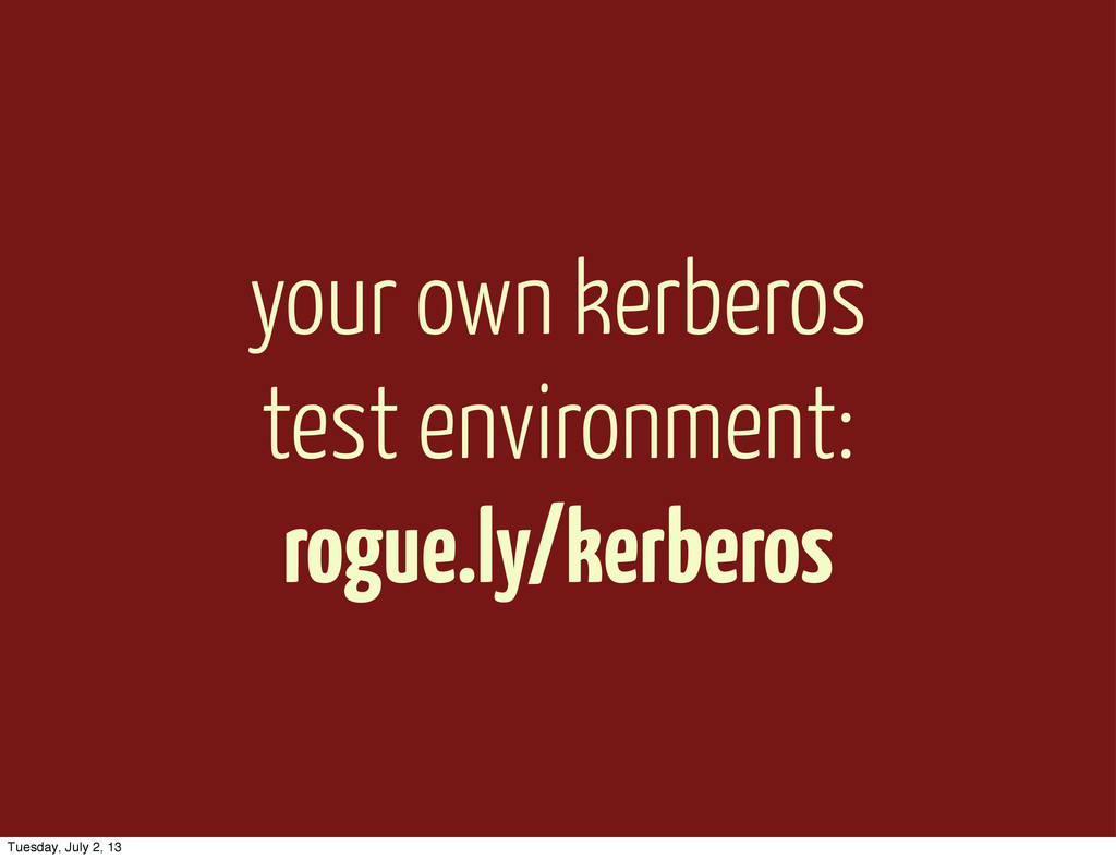 your own kerberos test environment: rogue.ly/ke...