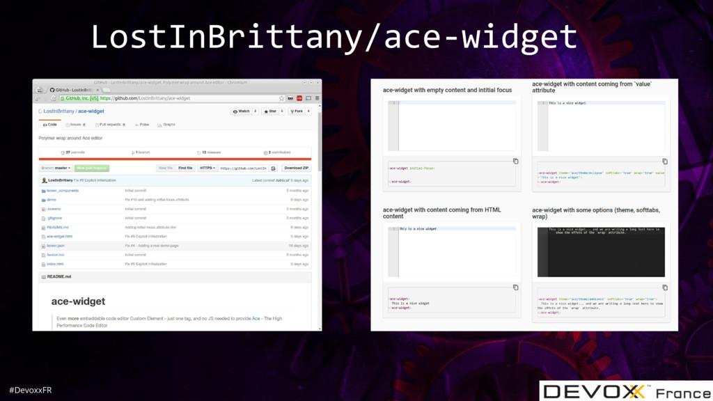 #DevoxxFR LostInBrittany/ace-widget