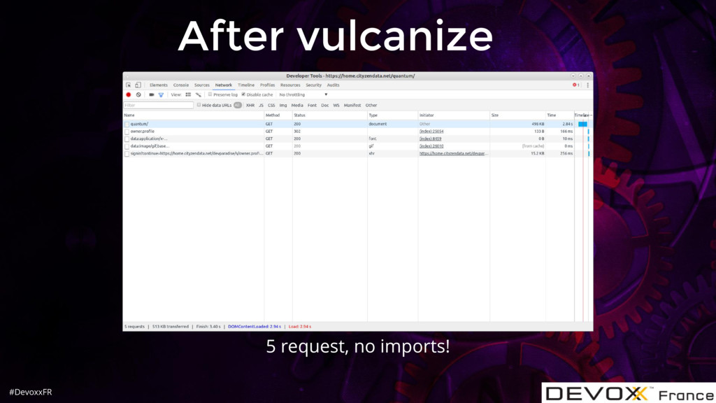 #DevoxxFR After vulcanize 5 request, no imports!