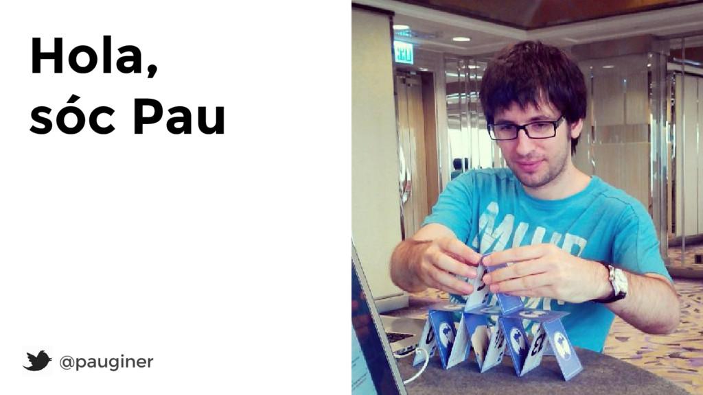 Hola, sóc Pau @pauginer