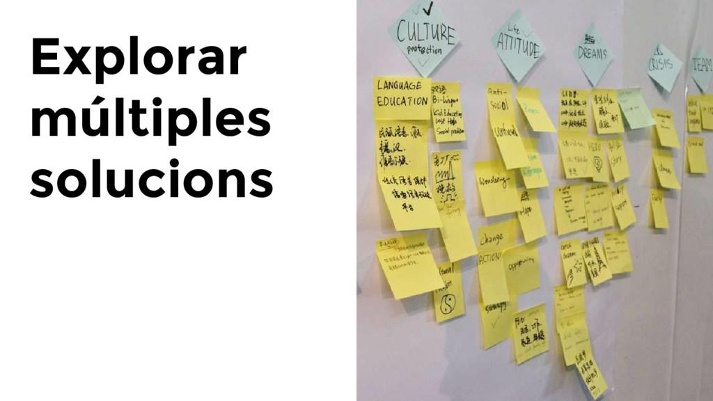 Explorar múltiples solucions