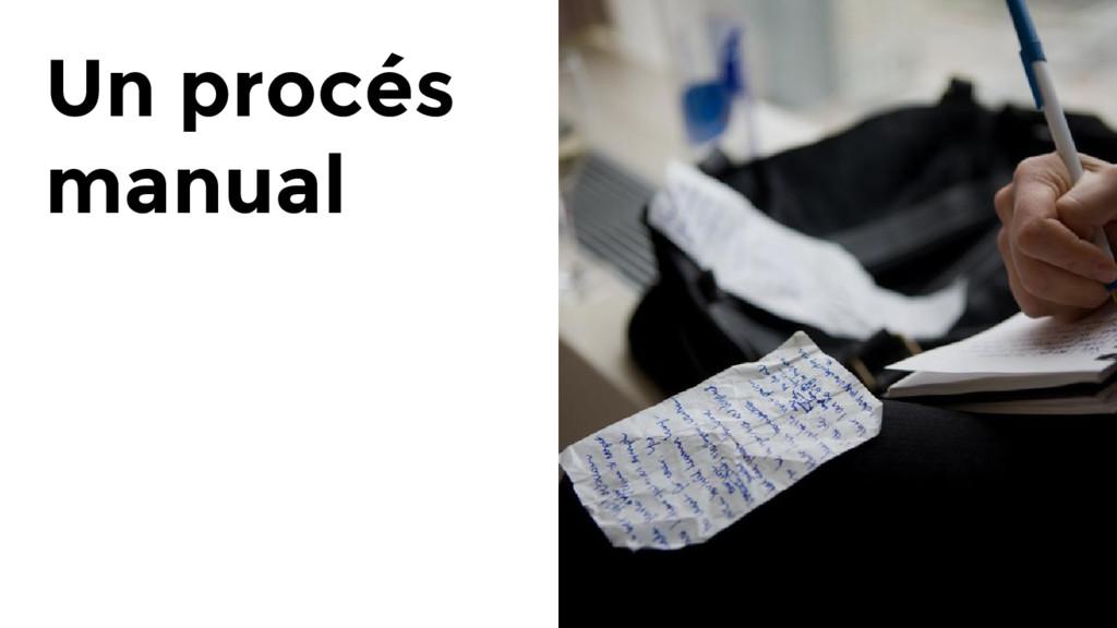 Un procés manual