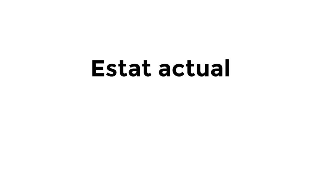 Estat actual