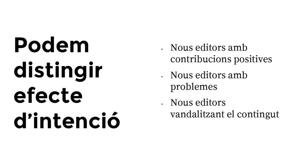 Podem distingir efecte d'intenció - Nous editor...