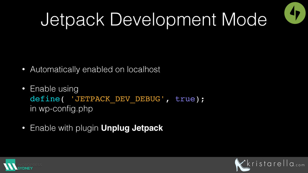 Jetpack Development Mode • Automatically enable...