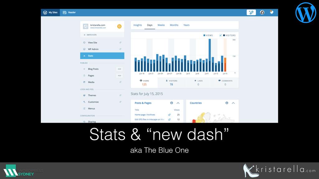 "Stats & ""new dash"" aka The Blue One "