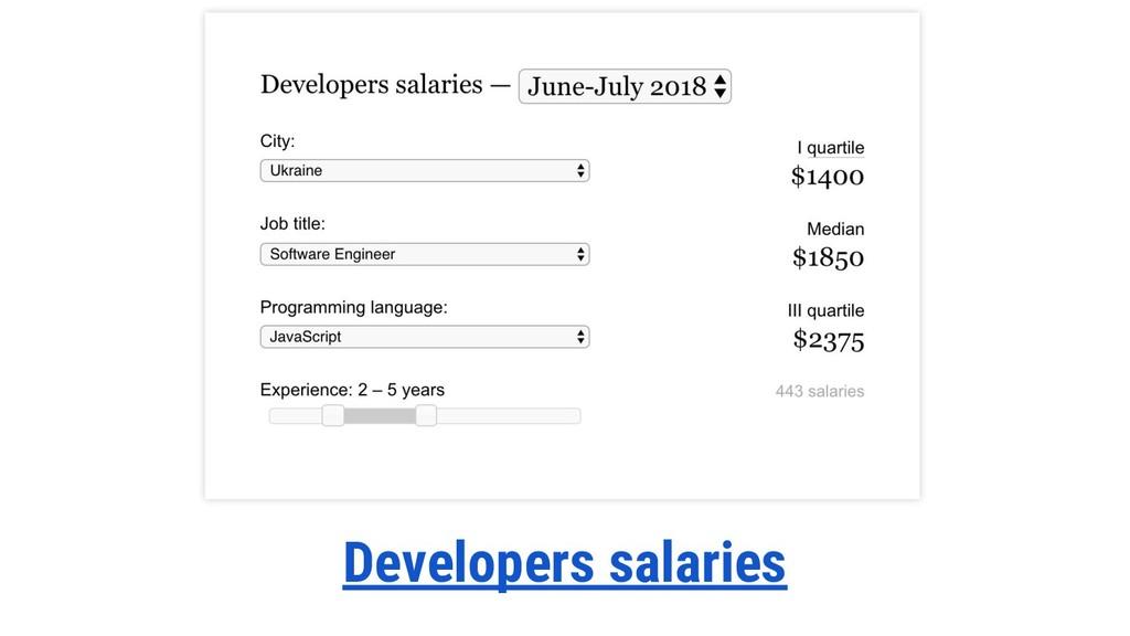 Developers salaries