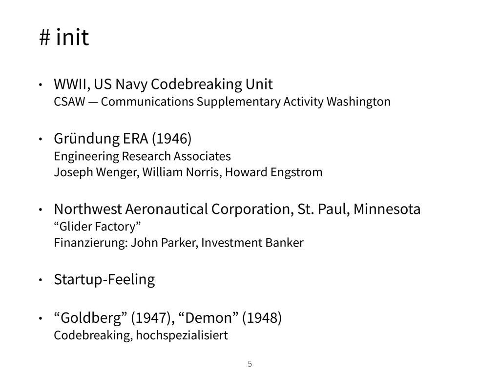# init • WWII, US Navy Codebreaking Unit