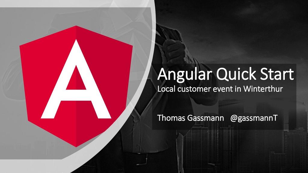 Angular Quick Start Local customer event in Win...