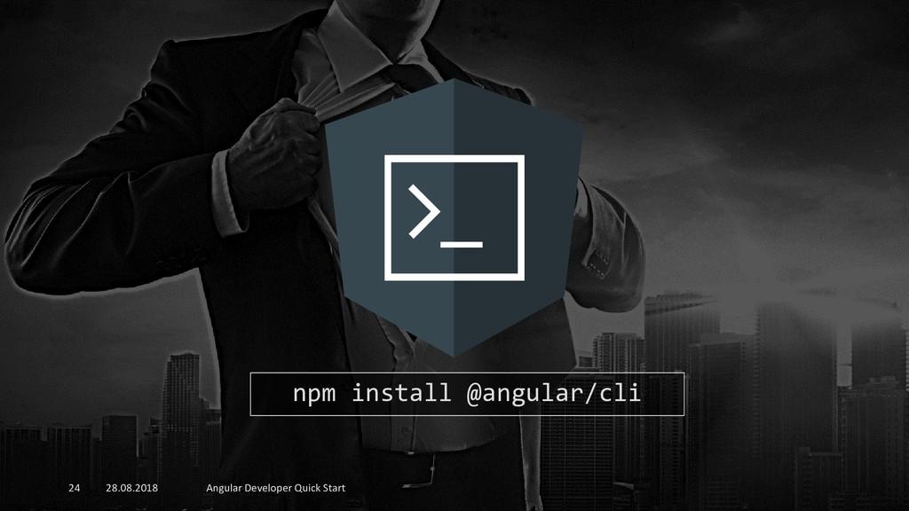 28.08.2018 Angular Developer Quick Start 24 npm...