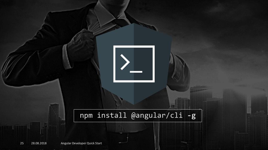28.08.2018 Angular Developer Quick Start 25 npm...
