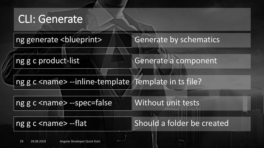 CLI: Generate 28.08.2018 Angular Developer Quic...
