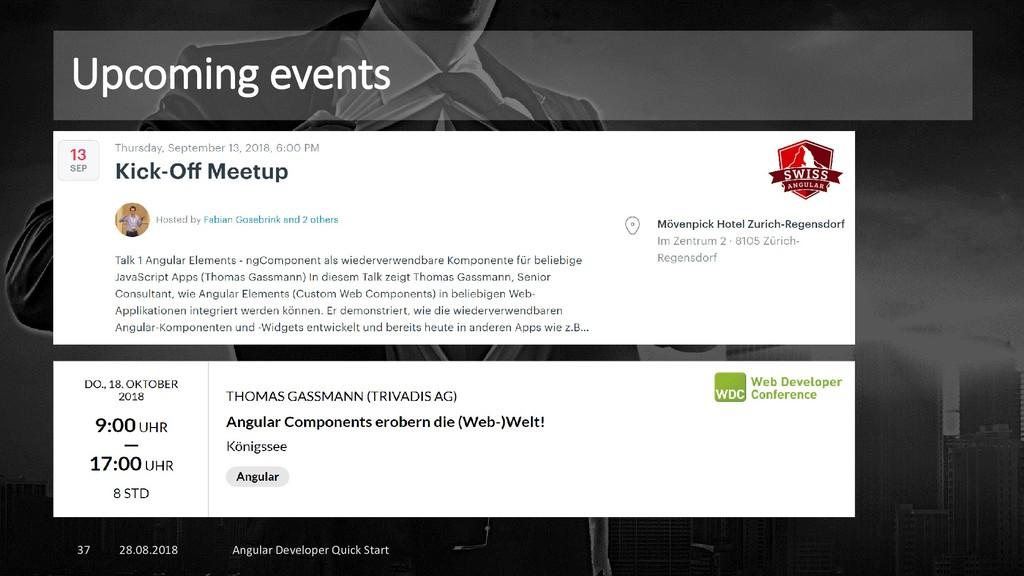 Upcoming events 28.08.2018 Angular Developer Qu...