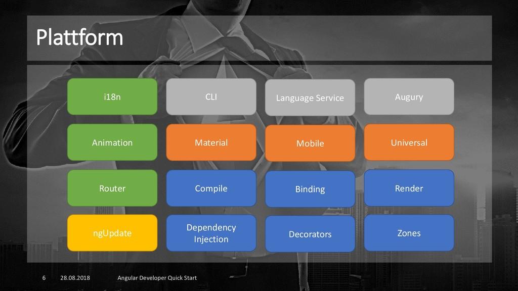 Plattform 28.08.2018 Angular Developer Quick St...