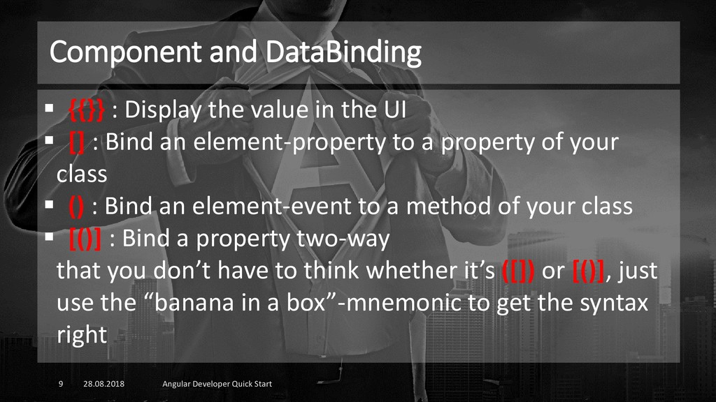 Component and DataBinding 28.08.2018 Angular De...