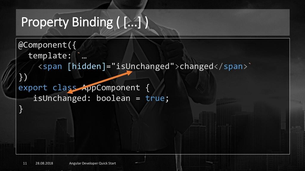 Property Binding ( [...] ) 28.08.2018 Angular D...