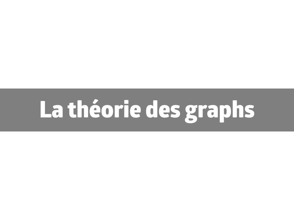 La théorie des graphs
