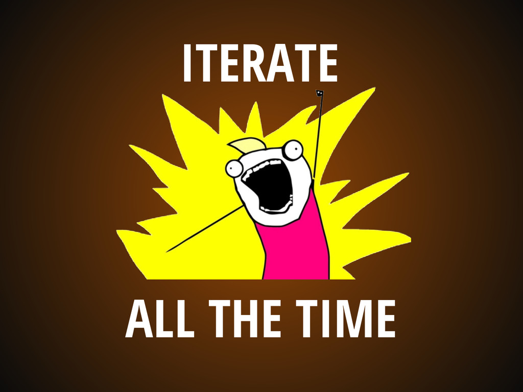 ITERATE ALL THE TIME