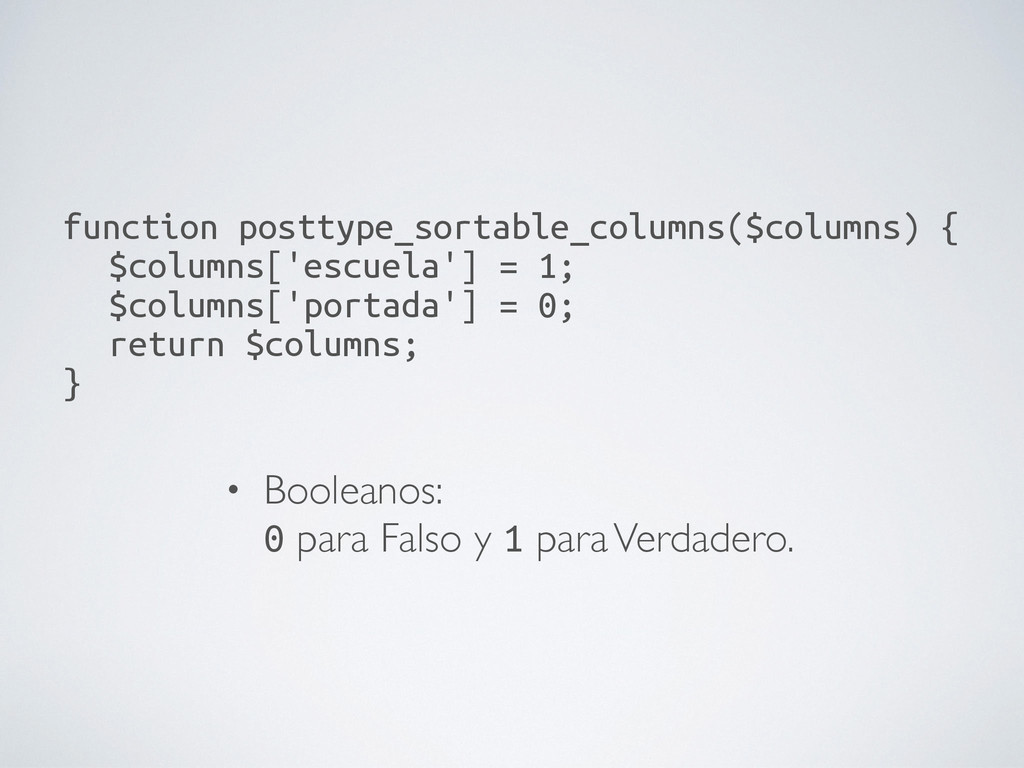 function posttype_sortable_columns($columns) {...