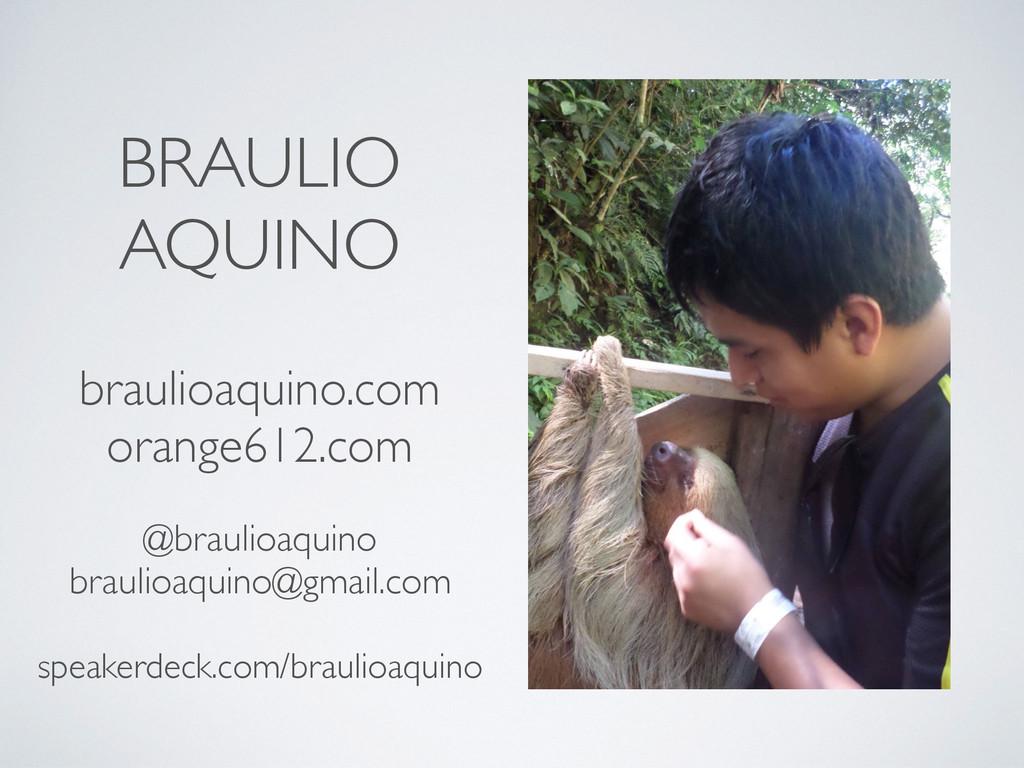 BRAULIO AQUINO braulioaquino.com orange612.com ...