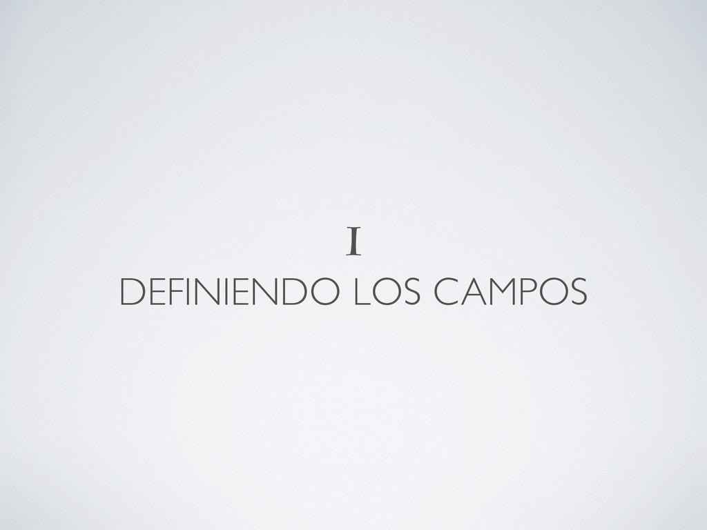 I DEFINIENDO LOS CAMPOS
