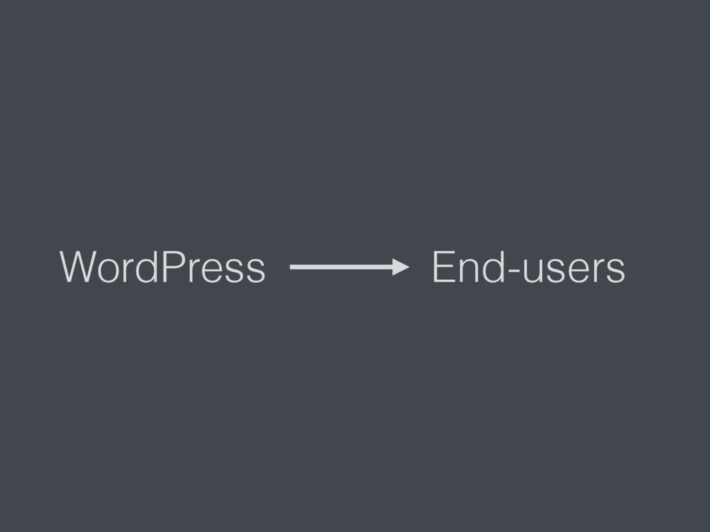 WordPress End-users
