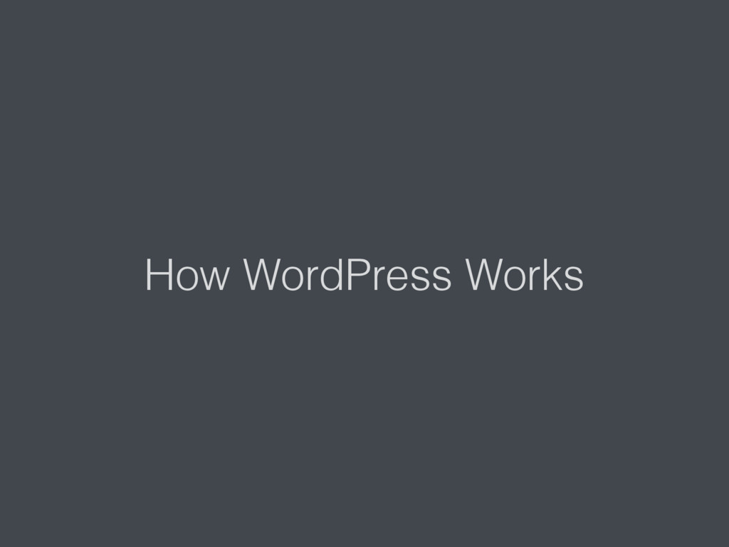 How WordPress Works