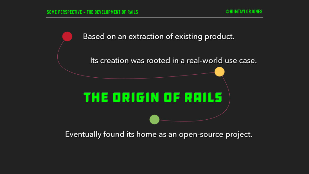 SOME PERSPECTIVE - THE DEVELOPMENT OF RAILS THE...