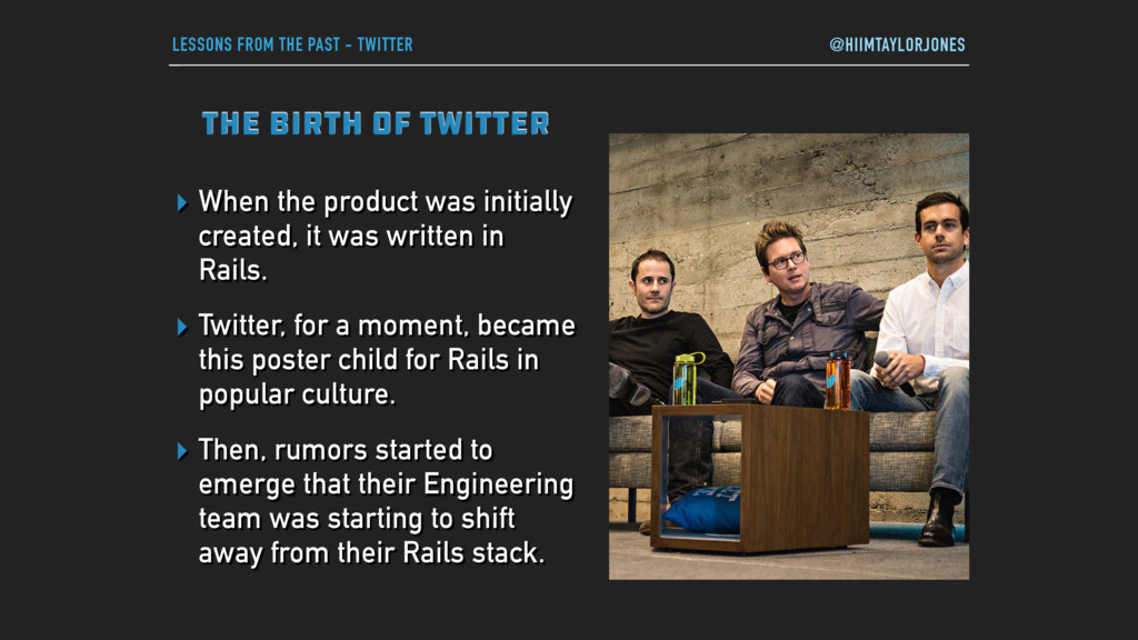 LESSONS FROM THE PAST - TWITTER THE BIRTH OF TW...