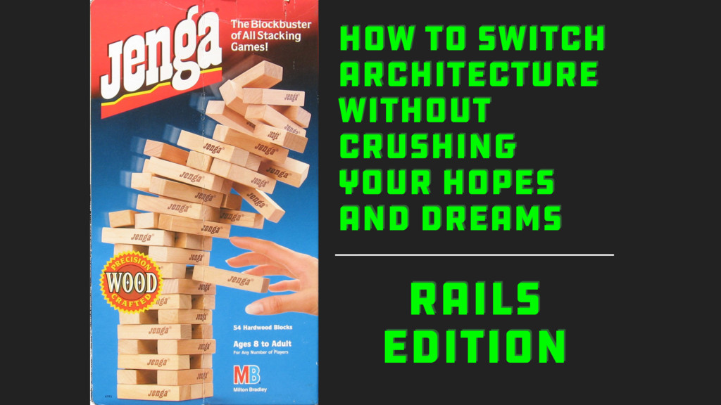 RAILS EDITION HOW TO SWITCH ARCHITECTURE WITHOU...